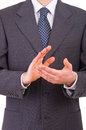 Businessman clapping his hands business man Stock Photography