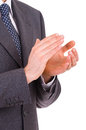 Businessman clapping his hands business man Stock Images