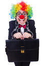 Businessman clown isolated on white Stock Image