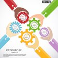 Businessman control Backlash ideas concept to drive business success Vector illustration Infographic template modern.