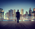Businessman Corporate Cityscape Urban Scene City Building Concep Royalty Free Stock Photo