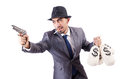 Businessman criminal sacks money Royalty Free Stock Photos