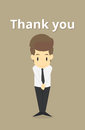 businessman cringe politeness.Vector Royalty Free Stock Photo