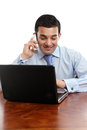 Businessman discussion on telephone Stock Image