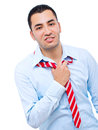 Businessman in distress Royalty Free Stock Images