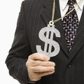 Businessman with dollar sign Stock Photography