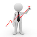 Businessman drawing graph Royalty Free Stock Photos