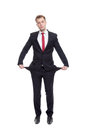 Businessman with empty pockets Royalty Free Stock Photo