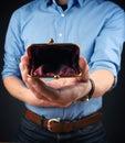 Empty wallet, financial concept