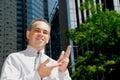 Businessman explaining Stock Images
