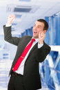 Businessman-feeling a great happy . Isolated Stock Photos