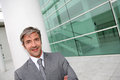 Businessman in front of modern building Royalty Free Stock Photo