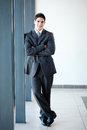 Businessman full length Royalty Free Stock Image