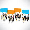Businessman gather and talk together a big group of design Royalty Free Stock Photo