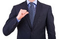 Businessman gesturing with hand business man Stock Photos