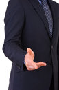 Businessman gesturing with hand business man Royalty Free Stock Photos