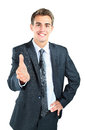 Businessman giving hand Stock Photos