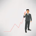 Businessman graph up of Royalty Free Stock Image