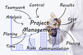 Businessman hand drawing Project Management, concept