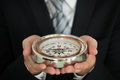 Businessman Hand Holding Compass Royalty Free Stock Photo