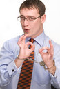 Businessman with handcuffs Royalty Free Stock Photography