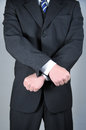 Businessman with hands crossed in front Royalty Free Stock Photos