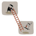 Businessman help another to climb ladder up Royalty Free Stock Photography