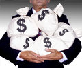 MONEY BAGS-WEALTH SUCCESS FINANCIAL PLANNING WEALTH MANAGEMENT RETIREMENT Royalty Free Stock Photo