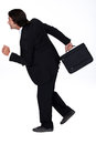 Businessman in a hurry bit of Royalty Free Stock Images