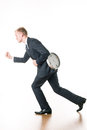 Businessman hurrying up to work Royalty Free Stock Photo