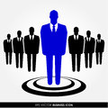 Businessman icon a standing out from the crowd leadership recruitment and hr concept Royalty Free Stock Image