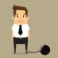 Businessman with imprisonment vector eps Royalty Free Stock Photo