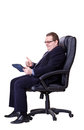 Businessman isolated on a white background Royalty Free Stock Photo