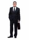 Businessman isolated on white. Royalty Free Stock Photo