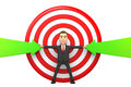 Businessman makes the arrows hit the target d Royalty Free Stock Photo