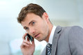 Businessman making a phonecall Royalty Free Stock Photo