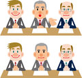 Businessman of meetings and interviews pose Stock Photo
