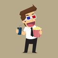 Businessman movies vector eps eps Stock Images