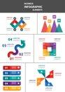 Businessman multipurpose infographic element flat design set templates for brochure flyer advertising Royalty Free Stock Image