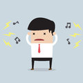 Businessman with noise vector eps Royalty Free Stock Photo