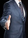 Businessman offering handshake Royalty Free Stock Photo