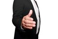 Businessman offering to shake your hand Royalty Free Stock Photo
