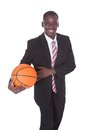 Businessman Playing Basketball Royalty Free Stock Photo