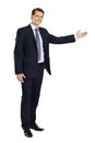 Businessman pointing Stock Photo