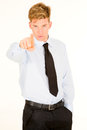 Businessman pointing his index young Royalty Free Stock Image