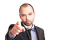 Businessman pointing at you handsome his finger Stock Photo