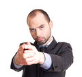 Businessman pointing at you handsome his finger Stock Images