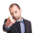 Businessman pointing at you handsome his finger Royalty Free Stock Photography
