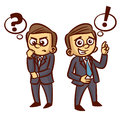 Businessman Ponder Question Idea Royalty Free Stock Photo