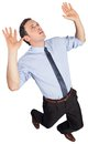 Businessman posing with arms raised Stock Images